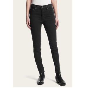 Frye Addie skinny Jeans mid rise black ember
